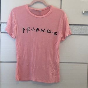 Only worn once women pink FRIENDS tee